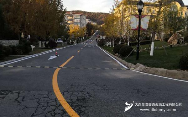 大连道路划线工程案例